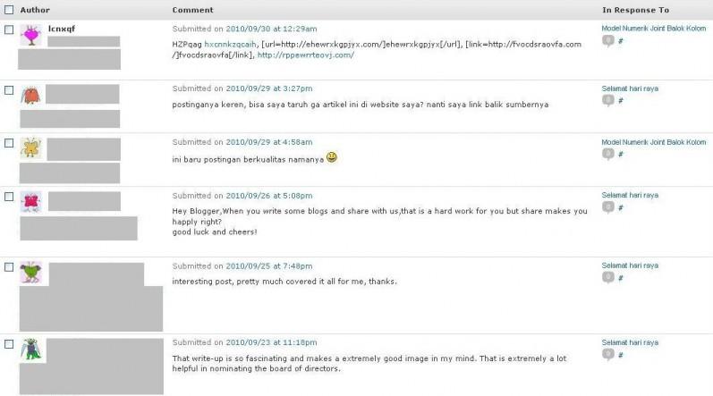 Komentar - komentar spam